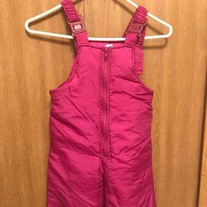 Girl's Dark Pink Snow pants - Size 4T